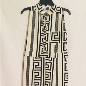 Women black/white jumpsuit/ preowned